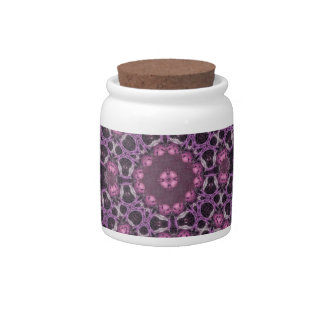 Awesome purple trendy pattern candy jar