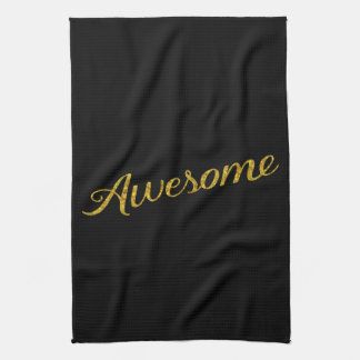 Awesome Quote Gold Faux Glitter Quotes Customized Hand Towels