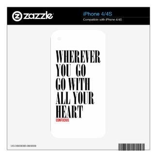 Awesome Quote iPhone 4S Skins