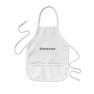 Awesome Quote Template Blank  black white Kids' Apron