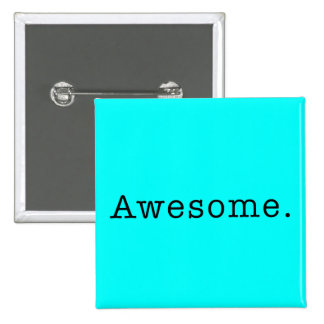 Awesome Quote Template Blank in Black and Teal Pinback Button