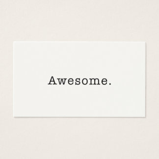 Awesome Quote Template Blank in Black and White Business Card