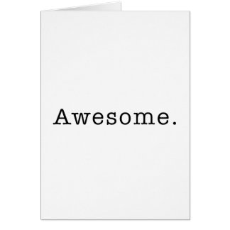 Awesome Quote Template Blank in Black and White Card