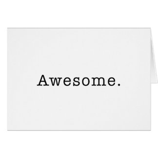 Awesome Quote Template Blank in Black and White Greeting Card