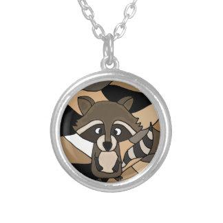 Awesome Raccoon Art Abstract Pendants