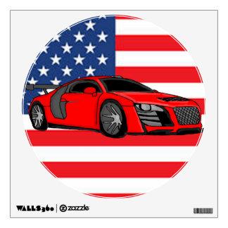 Awesome racing car wall graphics