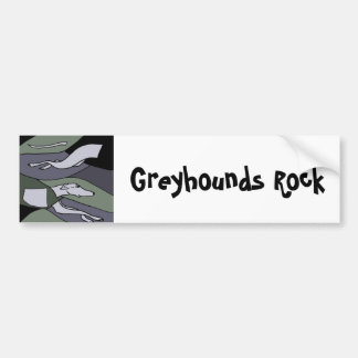 Awesome Racing Greyhound Abstract Art Car Bumper Sticker