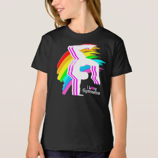 AWESOME RAINBOW GYMNASTICS T SHIRT