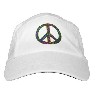 Awesome Rainbow Leopard Peace Sign Hat