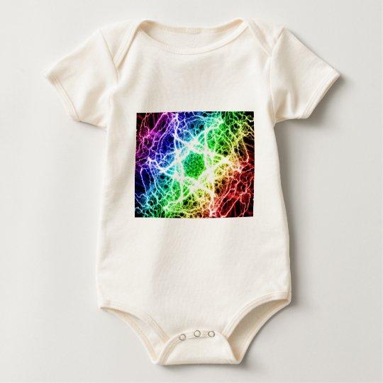 awesome rainbow lightning baby bodysuit