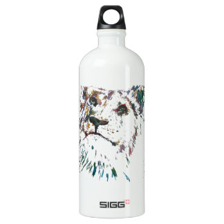 Awesome Rainbow Lion Hand Painted Artist Aluminum Water Bottle