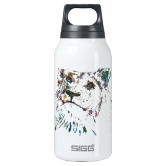 Awesome Rainbow Lion Hand Painted Artist Insulated Water Bottle