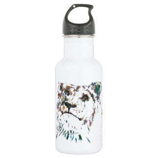 Awesome Rainbow Lion Hand Painted Artist Stainless Steel Water Bottle