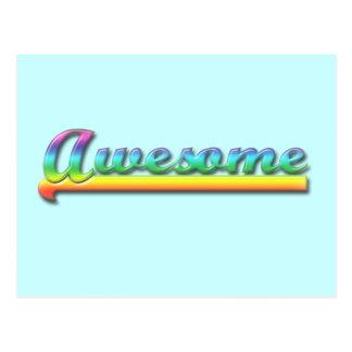Awesome - Rainbow Postcard