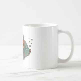 Awesome Rainbow Whimsical Fish Artsy Hippie Cool Coffee Mug