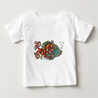 Awesome Rainbow Whimsical Fish Artsy Hippie Cool Tees