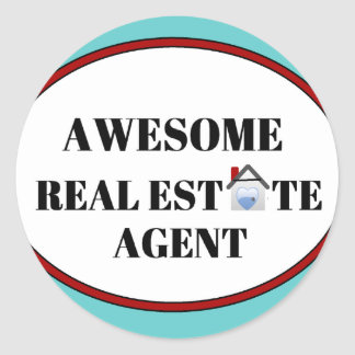 Awesome Real Estate Agent Classic Round Sticker