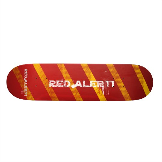 AWESOME RED ALERT BOARD! - Red Alert! Warning Skateboard
