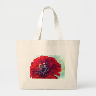Awesome Red Flower Large Tote Bag