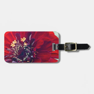 Awesome Red Flower Travel Bag Tags