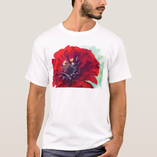 Awesome Red Flower T-Shirt