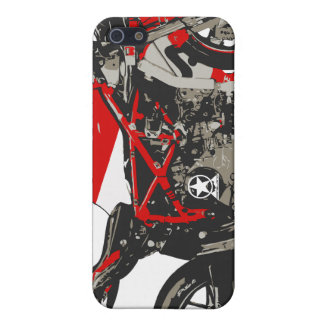 Awesome Red Racing Motorcycle Case For iPhone SE/5/5s