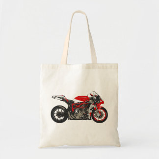 Awesome Red Racing Motorcycle Tote Bag