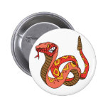 Awesome Red Rattlesnake Button