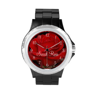 Awesome Red Rose II Wristwatches