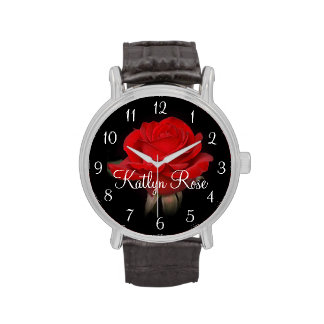 Awesome Red Rose Wristwatches