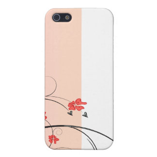 Awesome reddish blossom and black swirls covers for iPhone 5