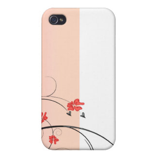 Awesome reddish blossom and black swirls iPhone 4/4S cases