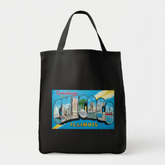 Awesome Retro Greeting From Chicago Illinois Tote Bag