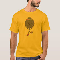 Awesome Retro Kawaii Artichoke Runner T-Shirt