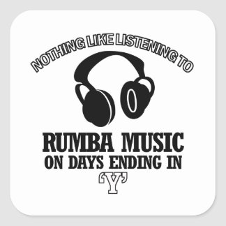 awesome Rumba music designs Square Sticker