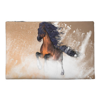 Awesome running horse with blue mane travel accessories bags