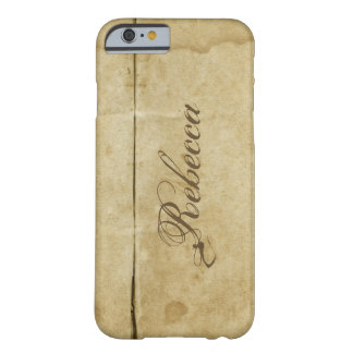 Awesome Rustic Stained Vintage Paper Inspired Barely There iPhone 6 Case