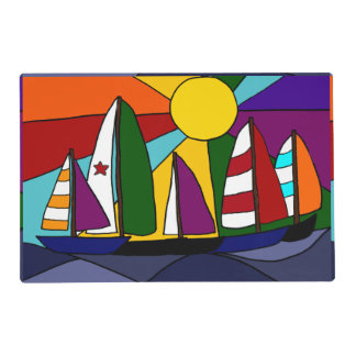 Awesome Sailboats in the Sun Placemat
