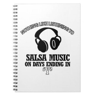 awesome Salsa music designs Spiral Notebook