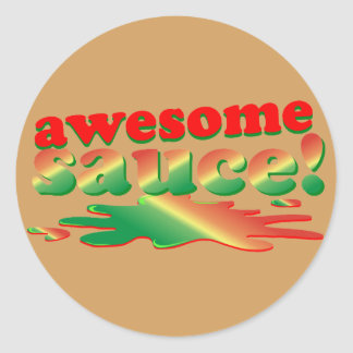 Awesome Sauce Classic Round Sticker