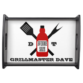 Awesome Sauce Personalized Grill Serving Tray