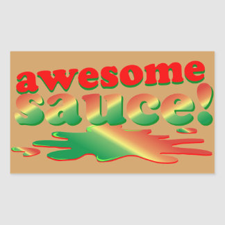 Awesome Sauce Rectangular Sticker