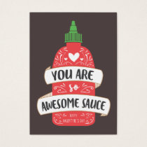 Awesome Sauce Valentine Business Card