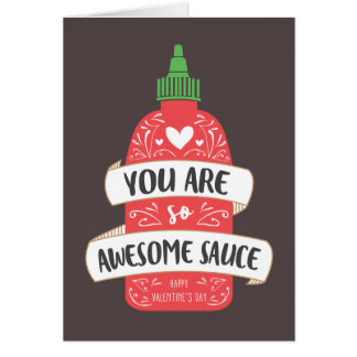 Awesome Sauce Valentine Card