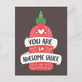 Awesome Sauce Valentine Postcard