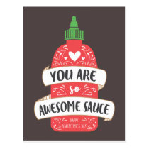 Awesome Sauce Valentine Postcard