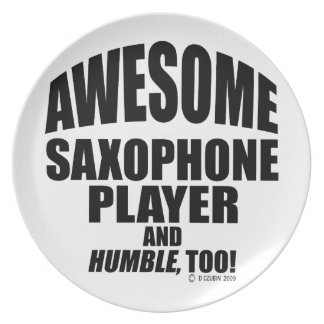 Awesome Saxophone Player Dinner Plates