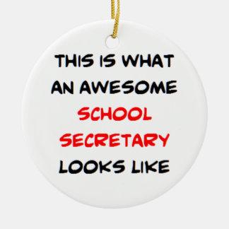 awesome school secretary ceramic ornament