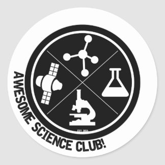 Awesome Science Club Stickers! Classic Round Sticker