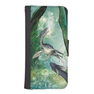 Awesome seadragon in a fantasy underwater world iPhone SE/5/5s wallet